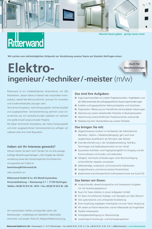 Wir suchen Sie als Elektroingenieur (m/w)
